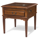Square Display Table Left, Alder