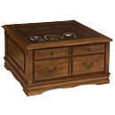 Display Square Coffee Table, Alder